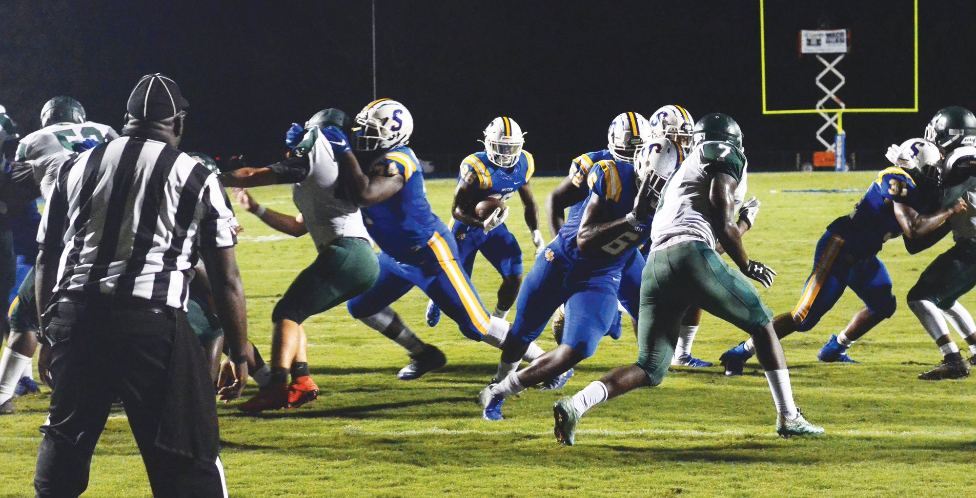 Sumter offensive lineman Sterling Porcher (74)  has signed to play football at Iowa Western.