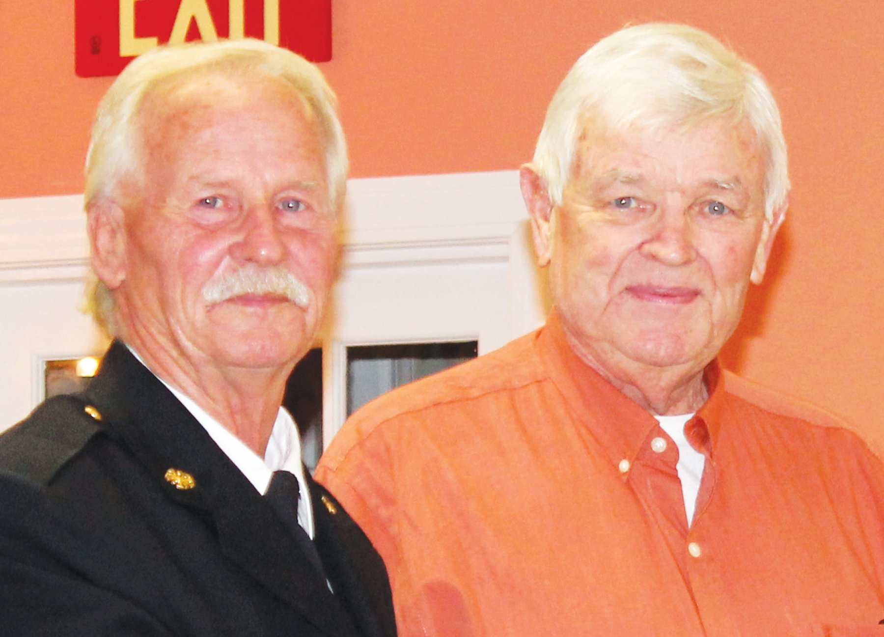 Firefighter Larry Williamson with the Manning Fire Department received recognition as the volunteer who responds to the most calls or training sessions during the past year. Manning Fire Chief Mitch McElveen named Williamson as the department's Top Dog Award winner.