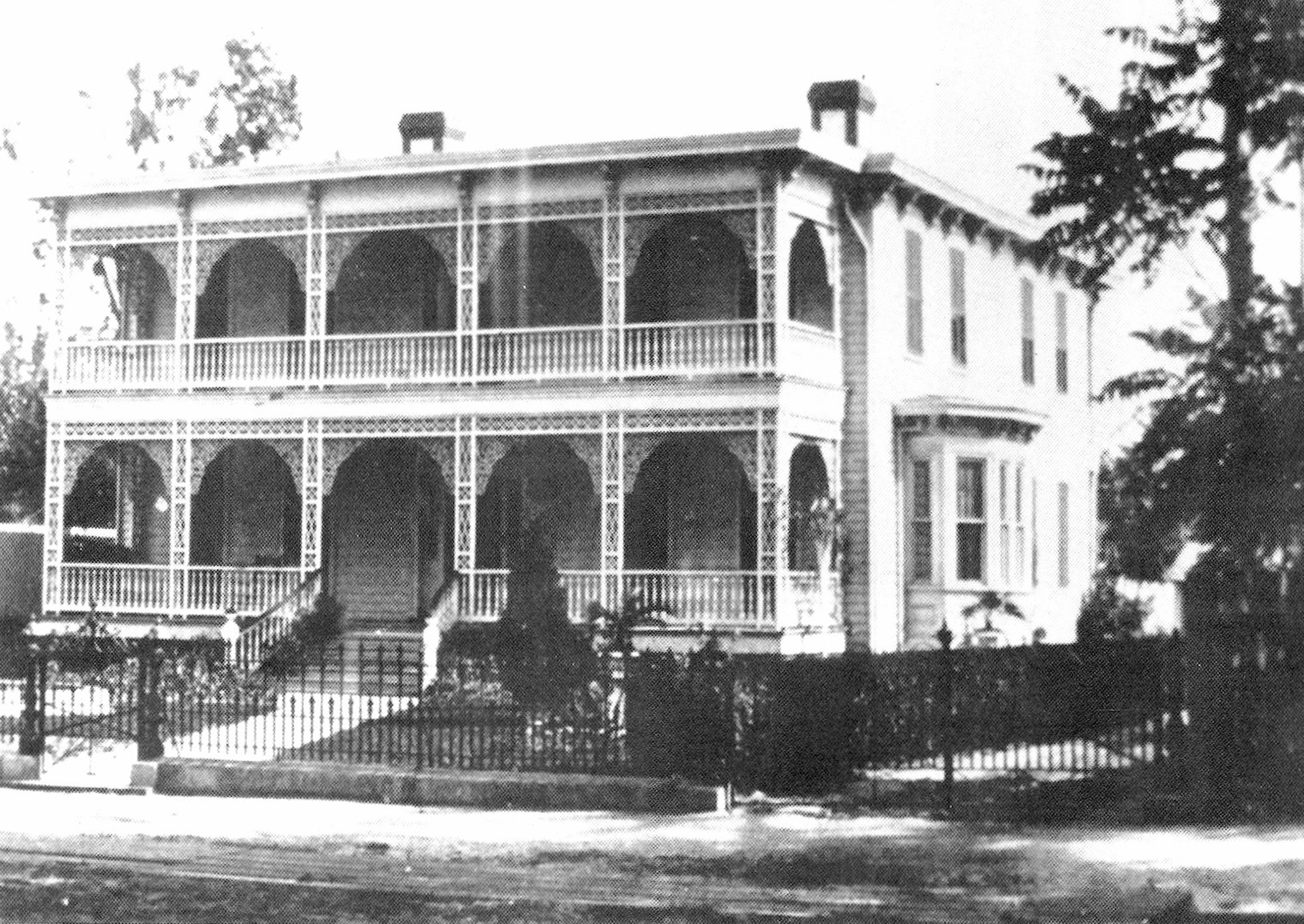 This is how the original O'Donnell House looked. It was moved from its original location near Cut Rate. Patrick O'Donnell was likely the father of Neill O'Donnell, who owned the building.