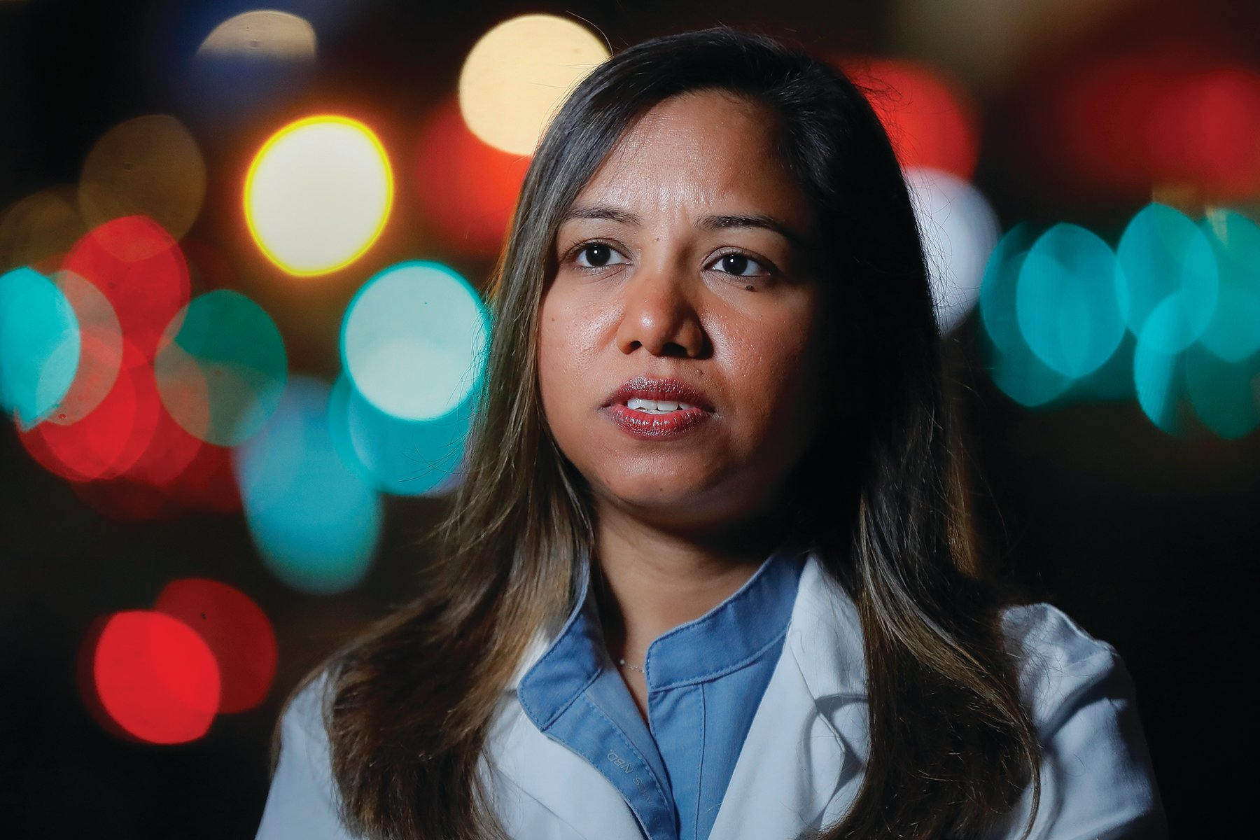 THE ASSOCIATED PRESSKamini Doobay, an Emergency Medicine Resident physician at NYU Langone Medical Center and Bellevue Hospital, talks during an interview about her experiences treating COVID-19 patients, Thursday, March 26, 2020, in New York.