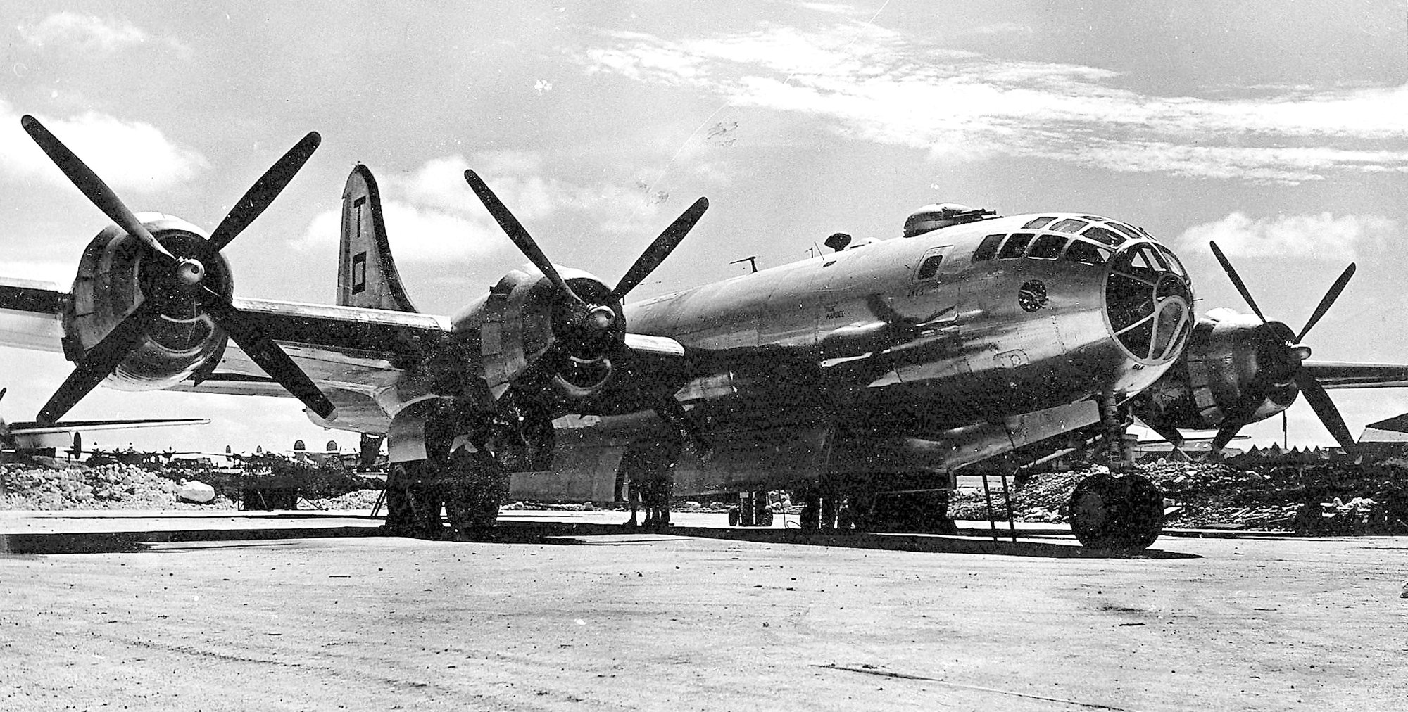 This B-29 was used by Crowson and other photographers for aerial shots over Japan.