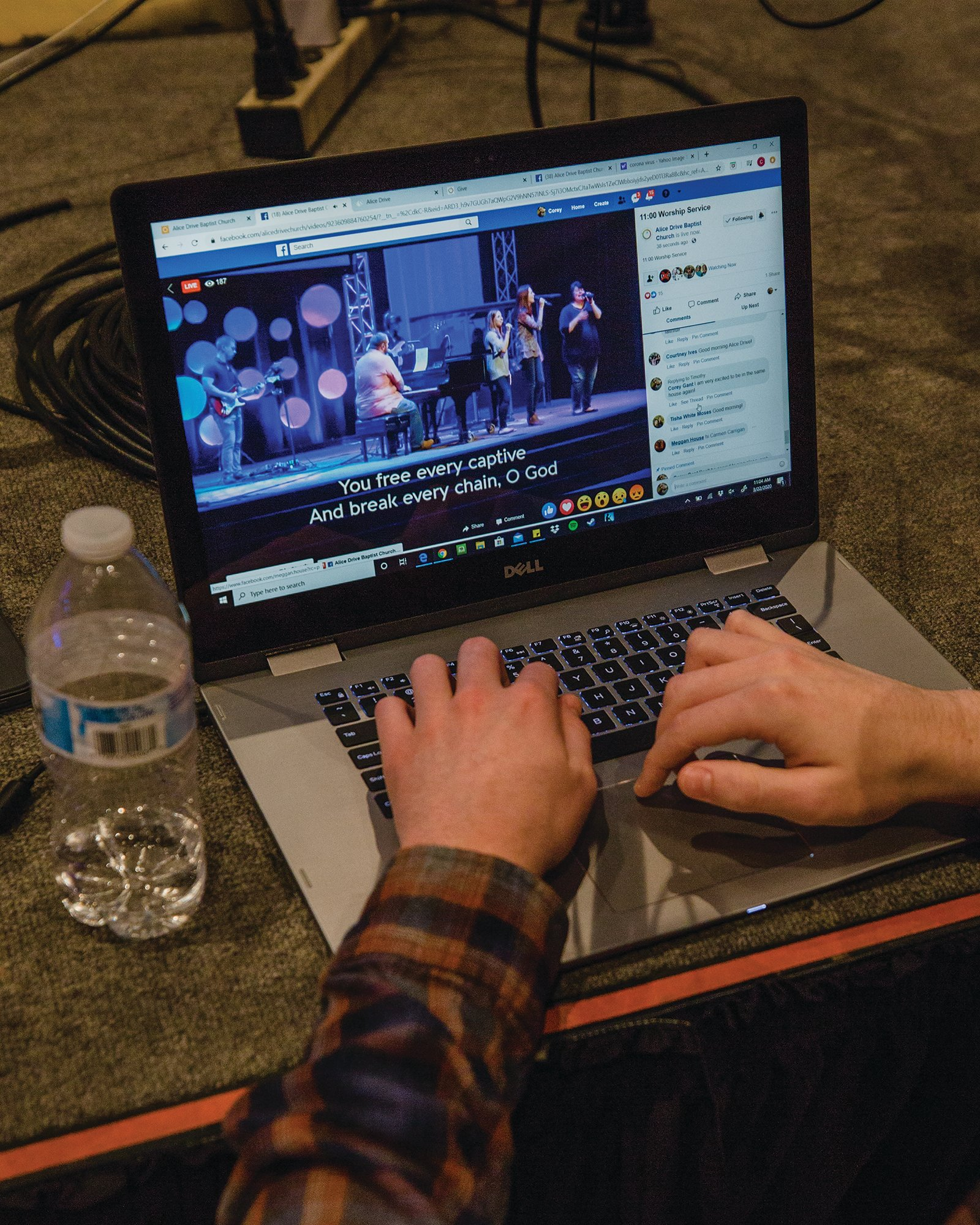 Alice Drive Baptist Church has been livestreaming services online to help stop the spread of COVID-19.