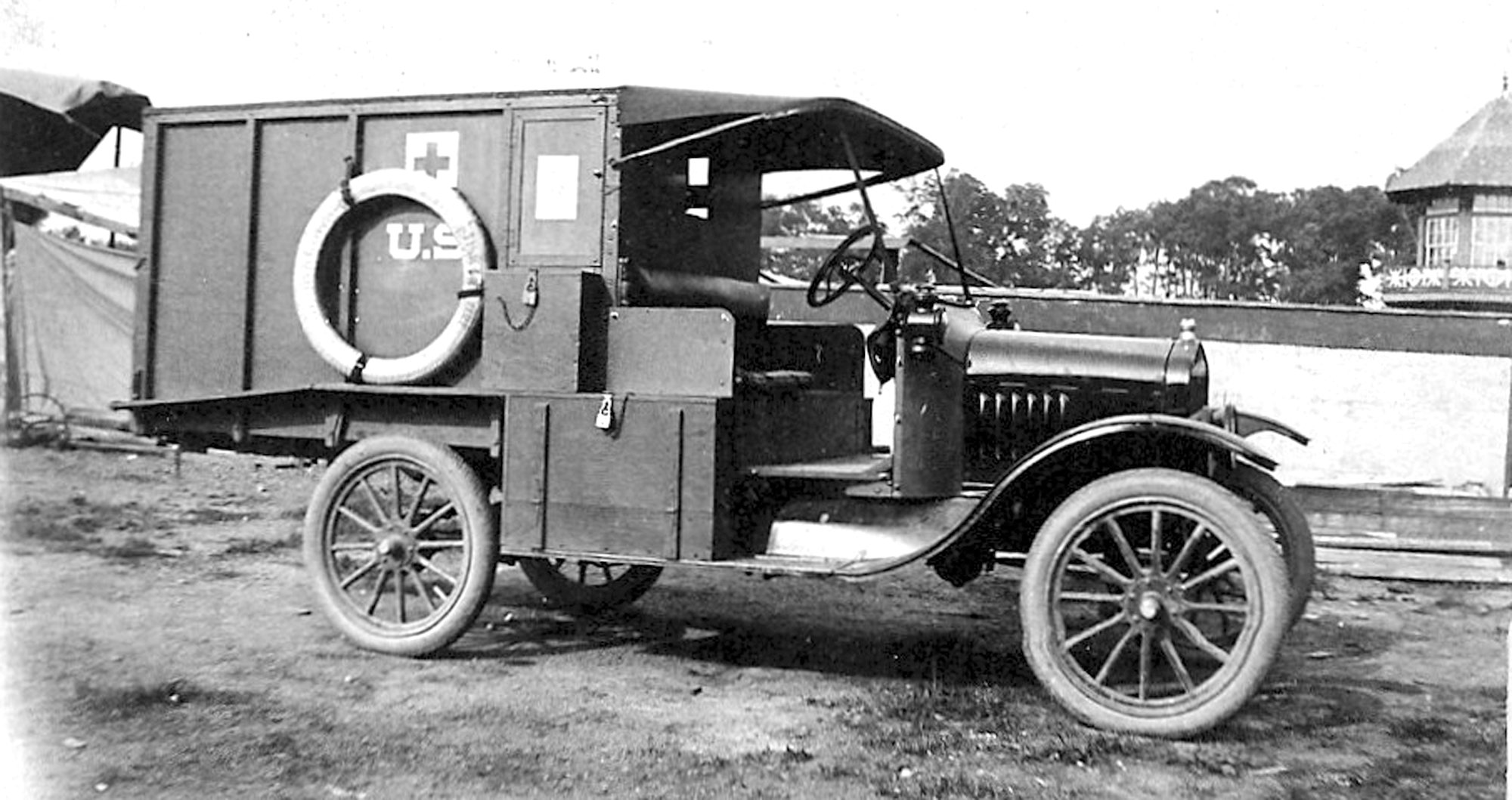 SUMTER ITEM FILE PHOTOS  This Red Cross vehicle was used by the United States during World War I, when the Spanish flu was spreading around the world.