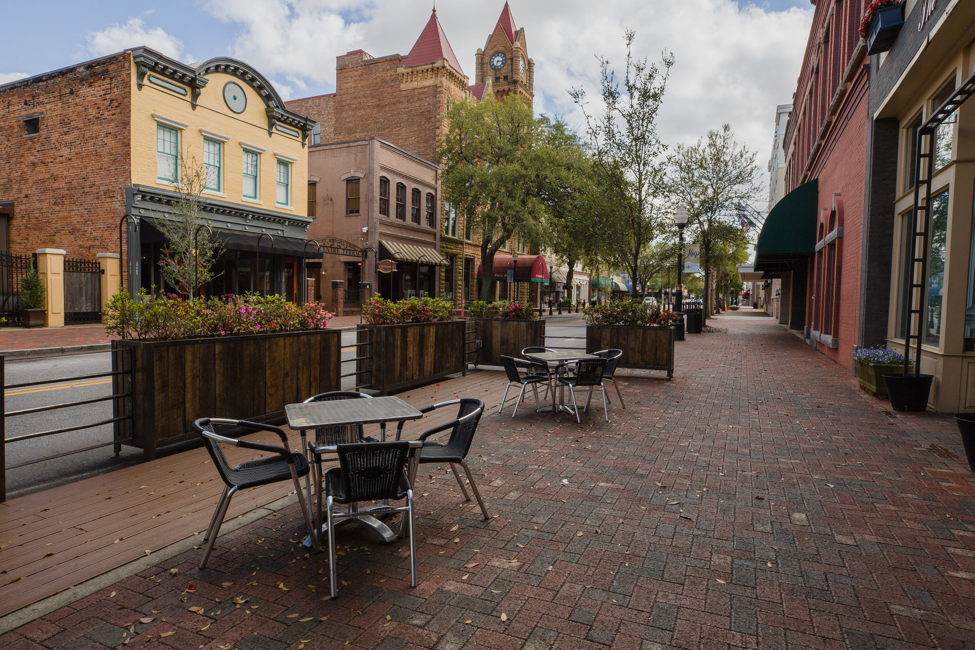 Downtown Sumter is seen without foot traffic on Wednesday, March 25.
