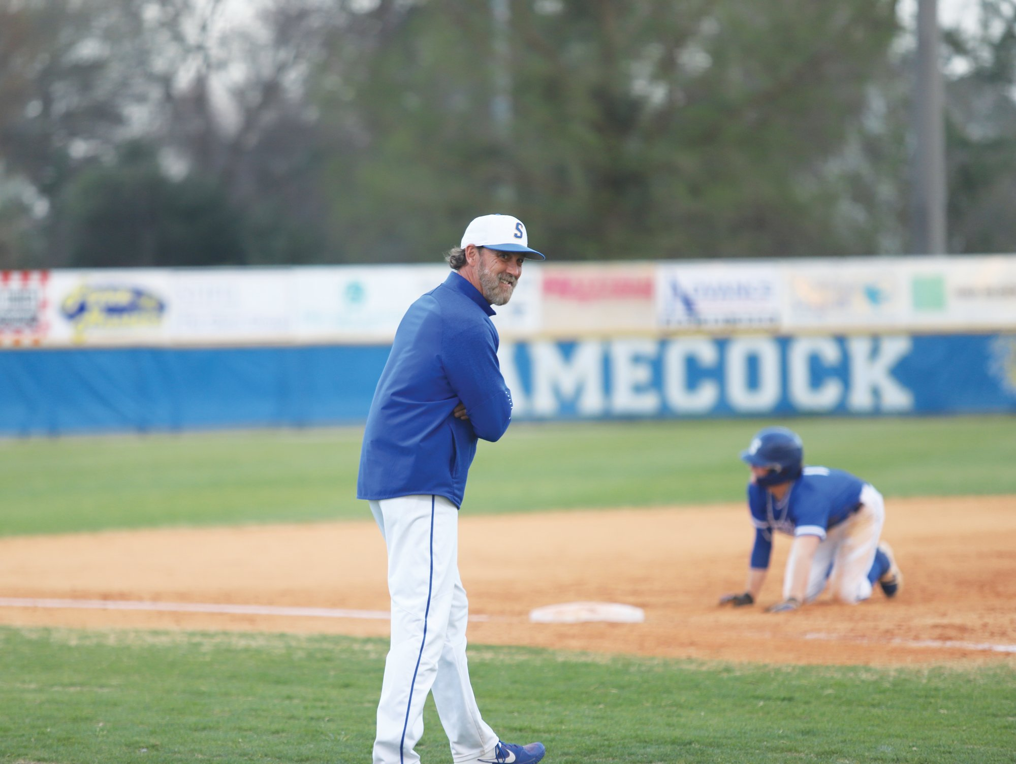 Sumter baseball coach Brooks Shumake, left, has stressed the importance of social distancing with his athletes while sports are on hiatus during the coronavirus pandemic.