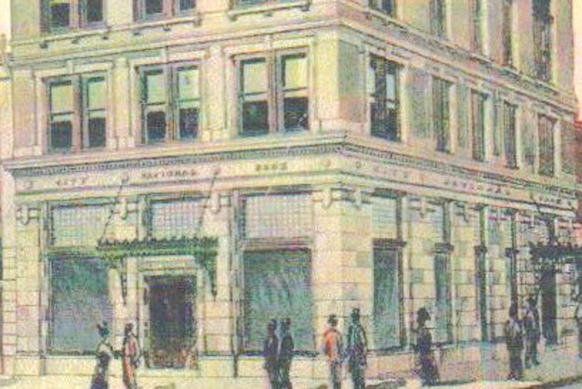 The Dixie Life Building is seen in a postcard.
