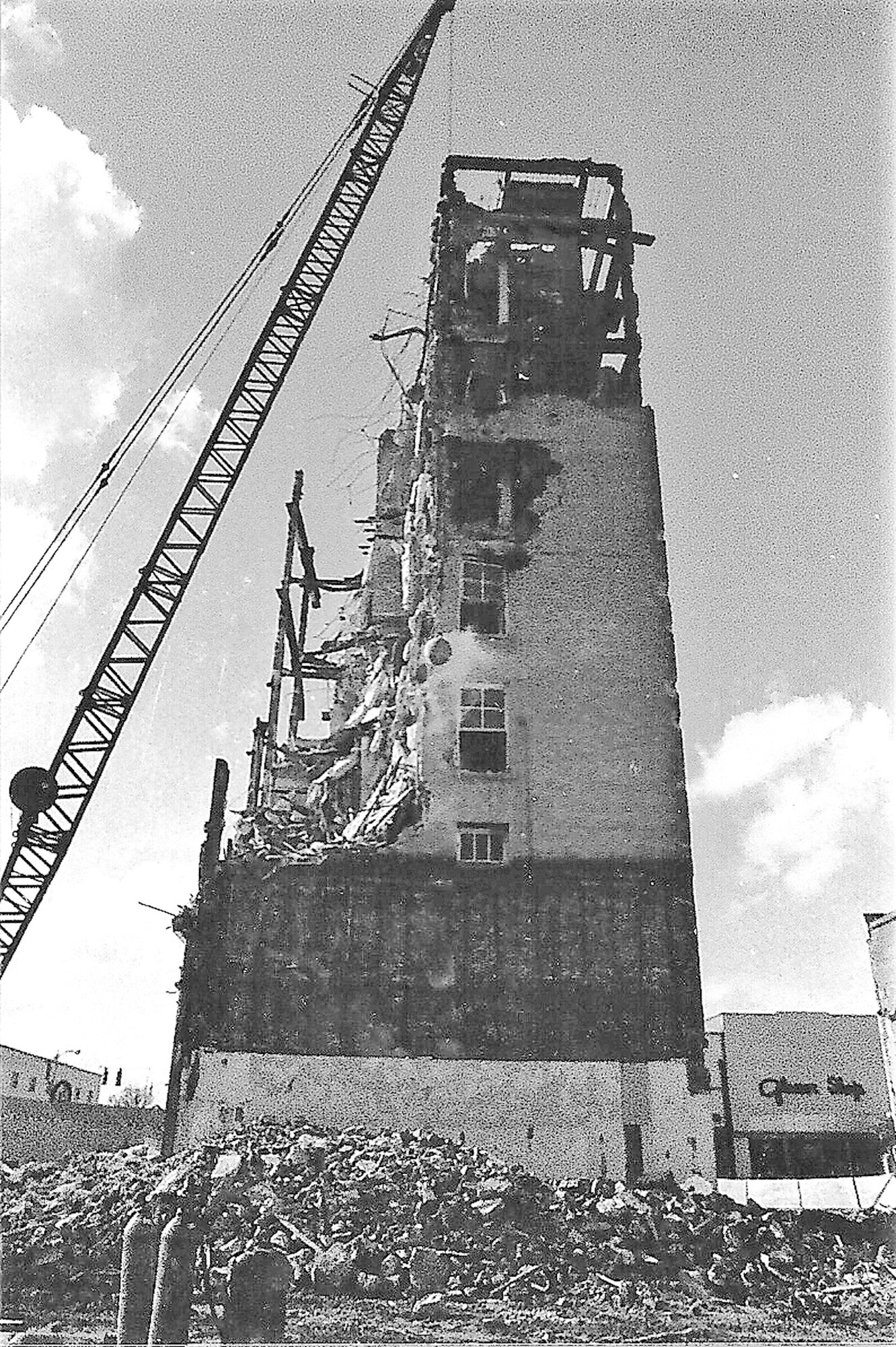 The Dixie Life Building is demolished in 1973.