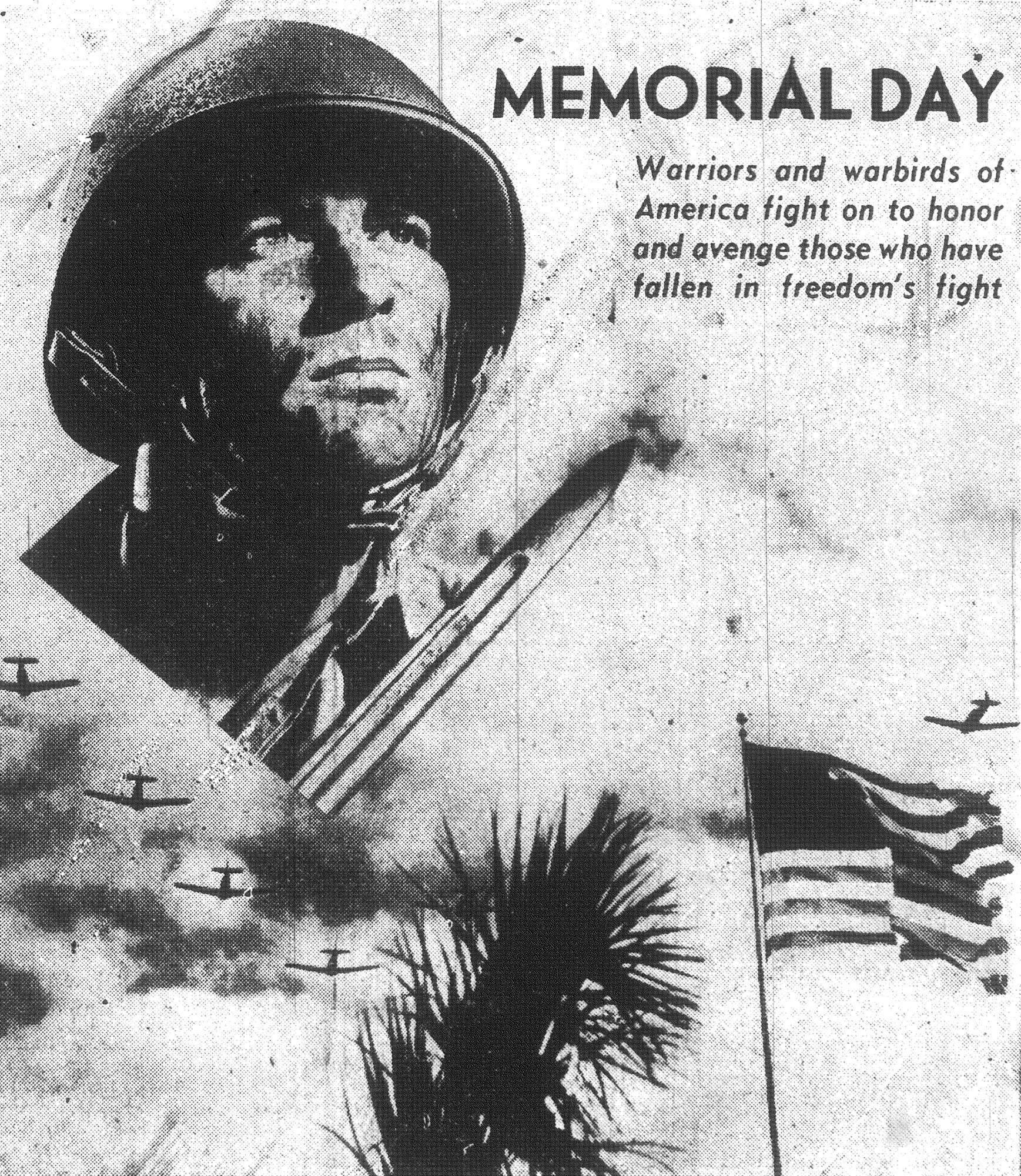 This poster appeared in 1943 in The Sumter Item honoring those who have made the ultimate sacrifice for their country.