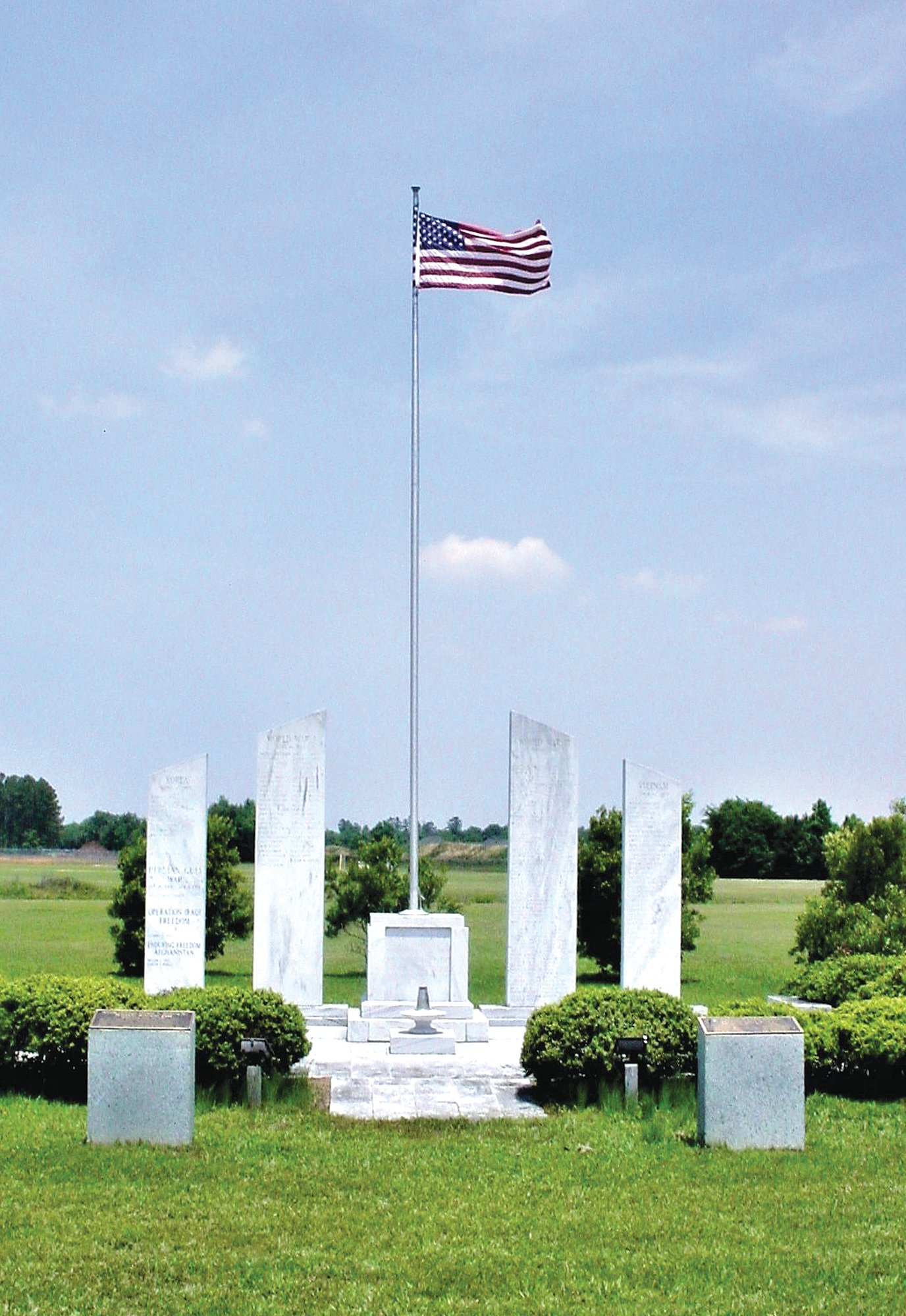 Mabry Memorial, named for Gen. George Mabry, in Sumter honors military members who have given their lives in service.