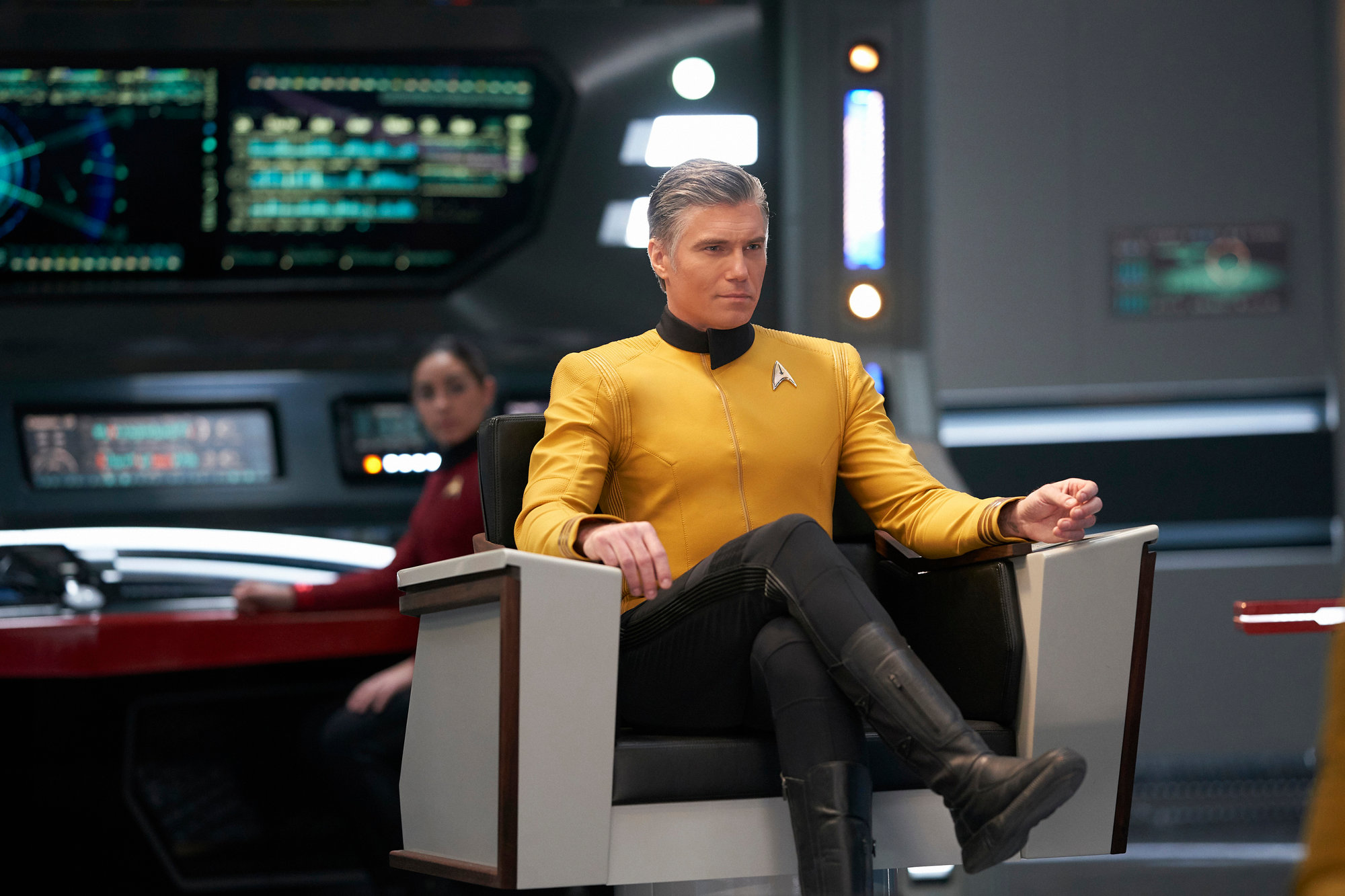 "Anson Mount stars as Capt. Christopher Pike in an episode of the CBS All Access series ""Star Trek: Discovery."""