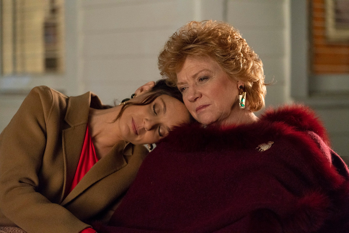 "Sarah Wayne Callies, left, stars as Robin Perry and Becky Ann Baker as Patricia in the ""Tradition"" episode of ""Council of Dads,"" airing at 8 p.m. today on NBC."