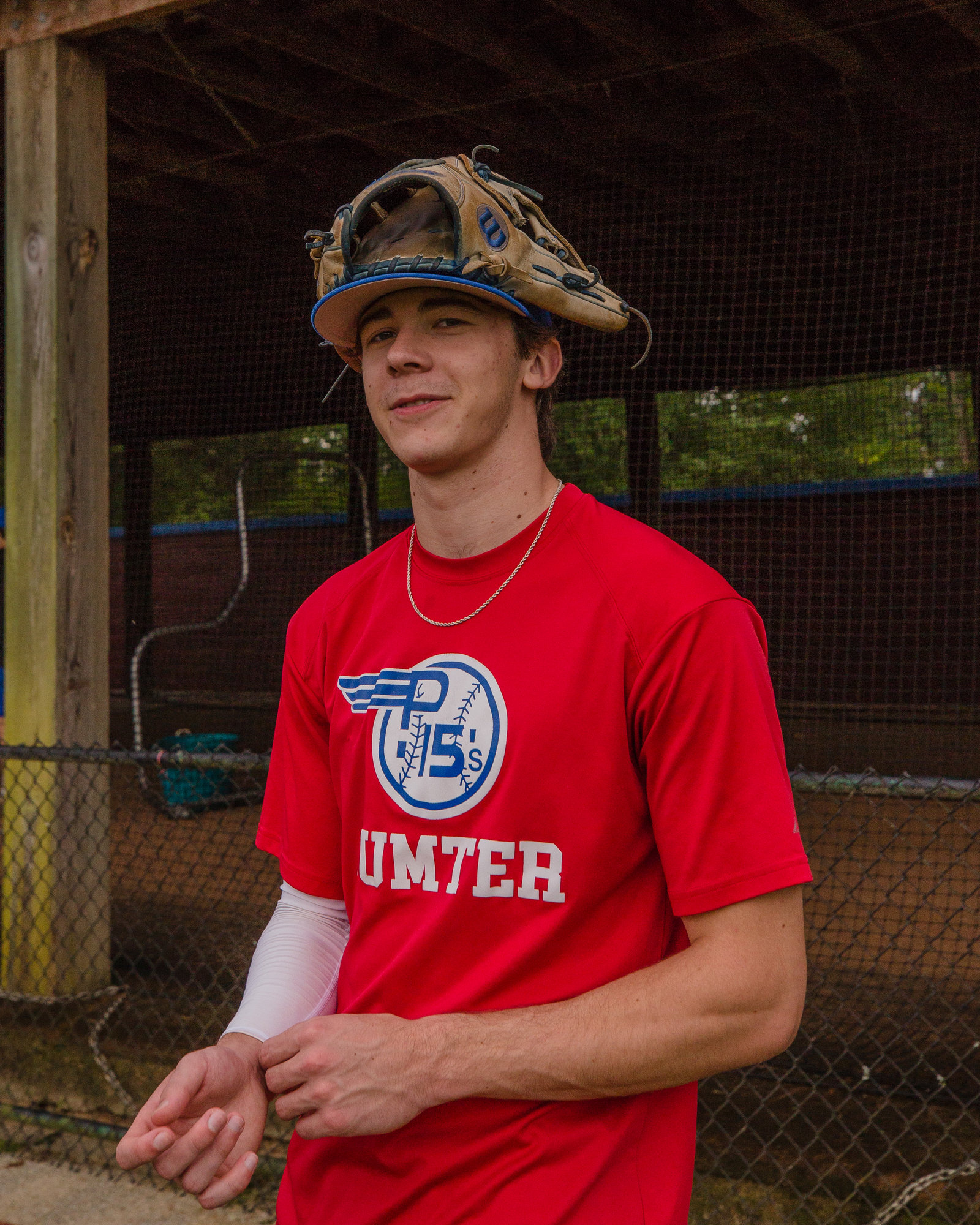 Jackson Hoshour at the P15s first practice following the cancellation of the American Legion season.