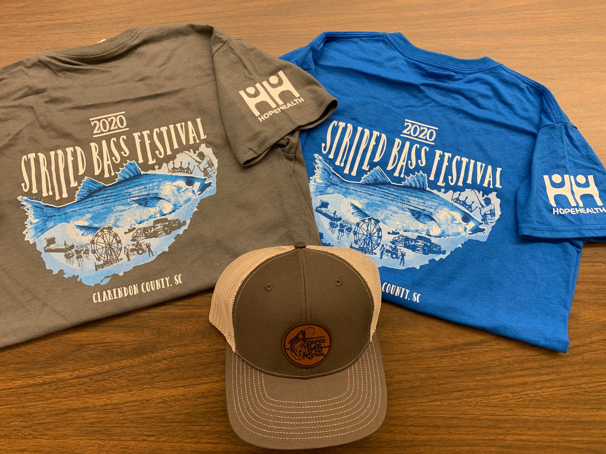 Commemorative T-shirts are being sold for the 2020 Striped Bass Festival, which was canceled because of COVID-19.