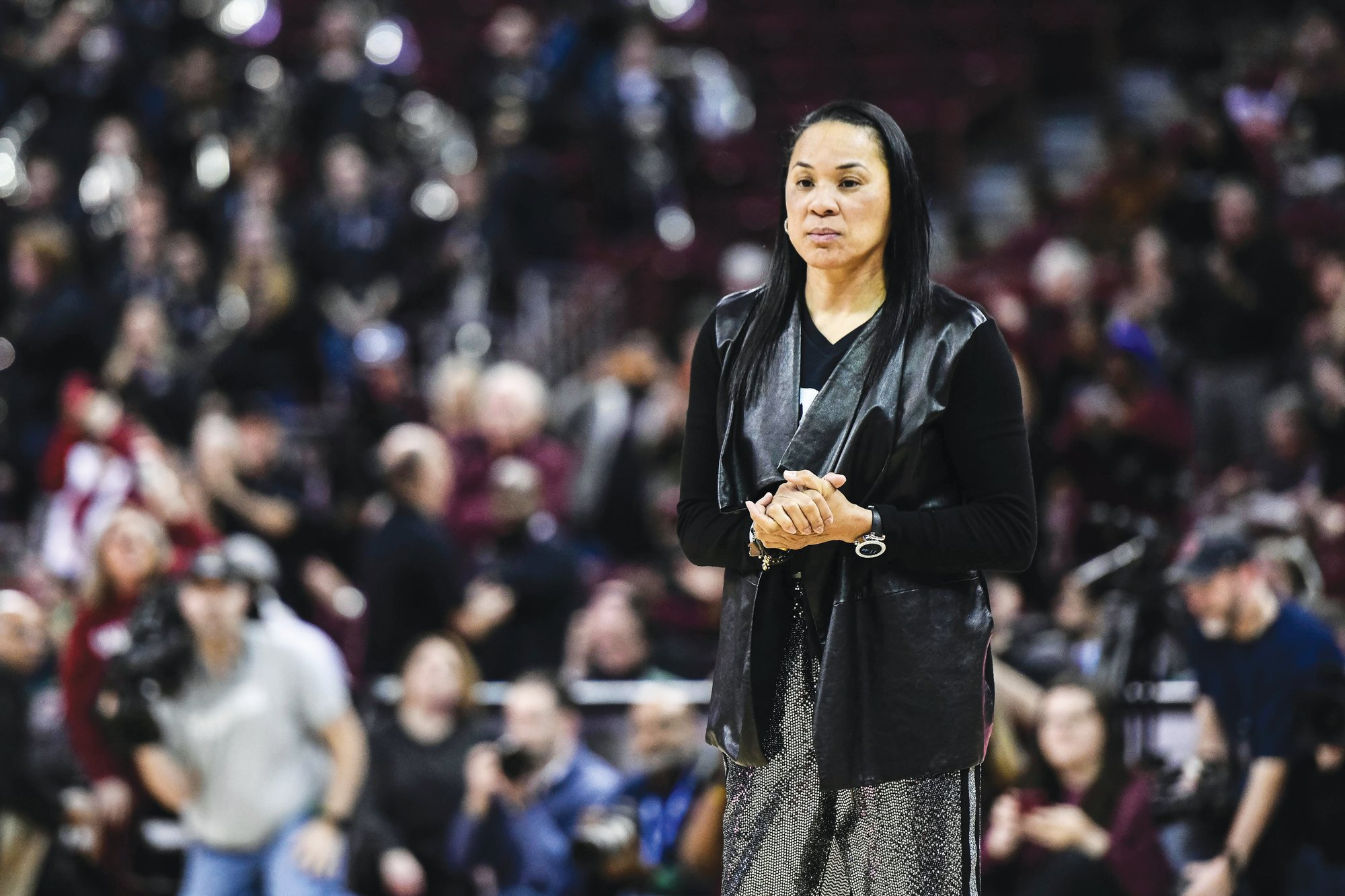 South Carolina head coach Dawn Staley would be prepping to coach Team USA in the Olympics if not for the coronavirus pandemic. Instead, she's focusing on getting the Gamecocks back on campus safely.