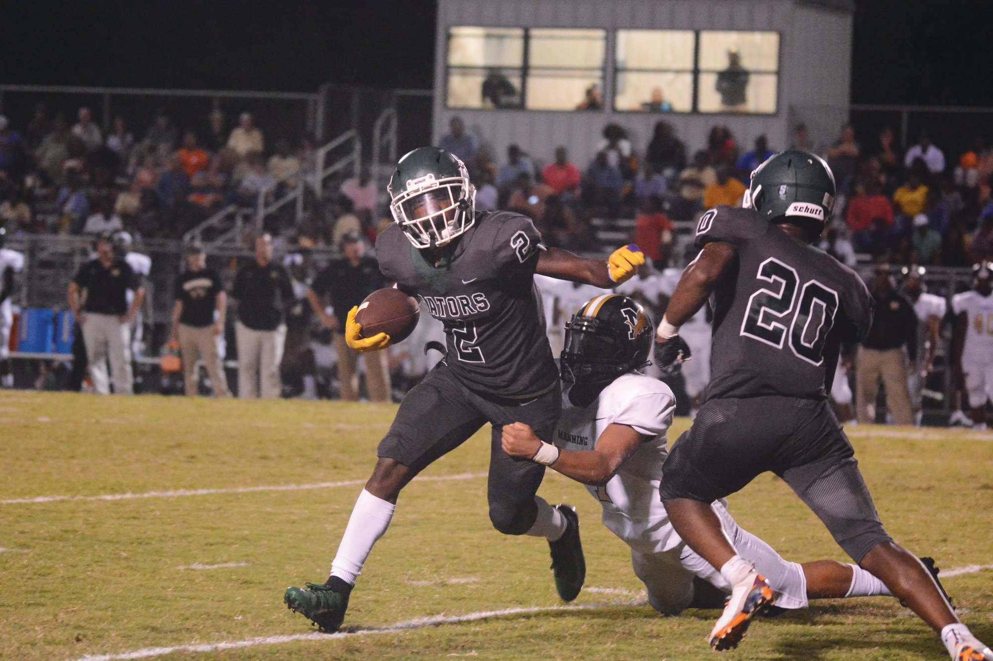 Lakewood's Zayveon Wells (2) and the Gators may have a clearer idea when they can return to the field after results come in from a survey sent out by the South Carolina High School League.