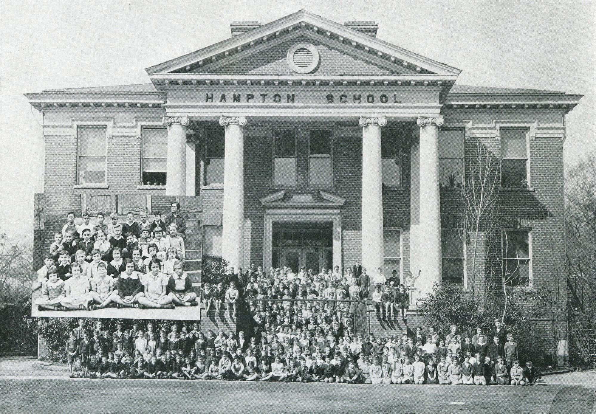 Hampton School's students are all seen in 1936.