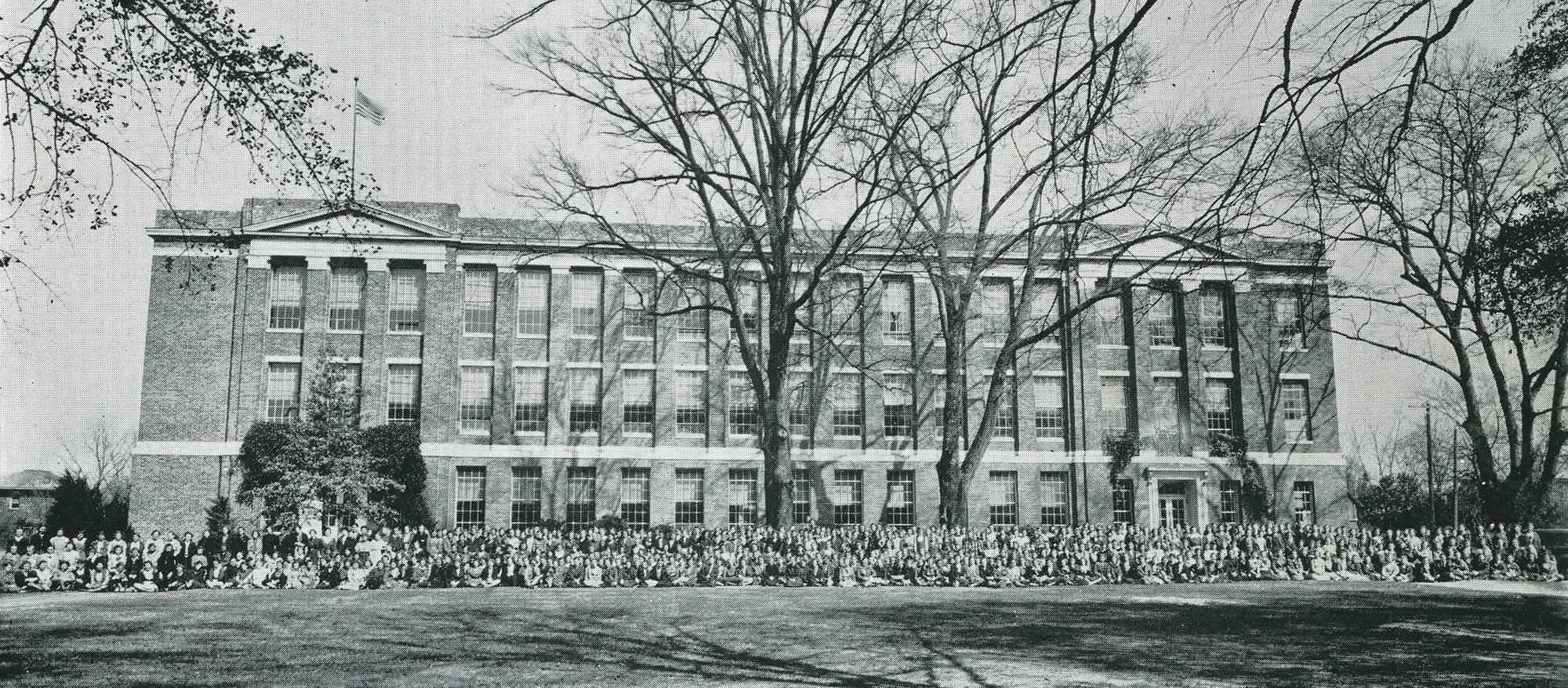 Girls' High School is seen in its yearbook photo in 1936.