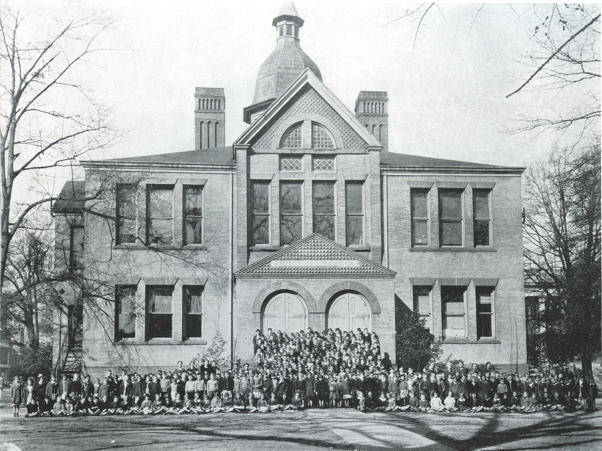 Washington School is seen in 1936. This photo was published in the school's yearbook that year.