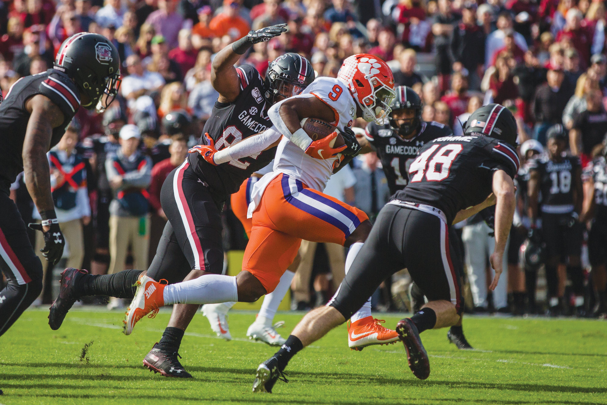 South Carolina and Clemson won't be able to face off in the Palmetto Bowl this year after the Southeastern Conference announced it will host a 10-game conference-only schedule for its teams in 2020 on Thursday.