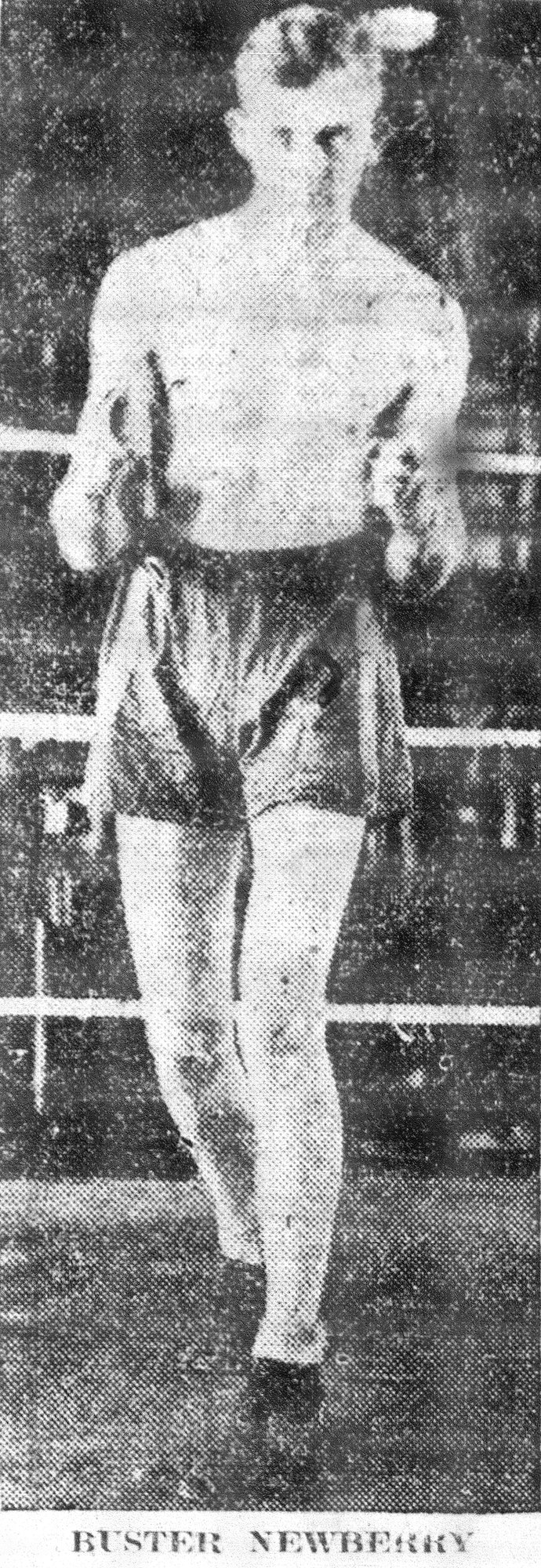 Buster Newberry is seen in the ring. Buster Newberry and Bob Montgomery both brought boxing fame to South Carolina with their wins in the ring. Newberry began boxing in the early 1920s, while Montgomery began his boxing career in 1943. Newberry was born in Florida and came to Sumter as a title holder, while Montgomery was born in Sumter and began his career in Philadelphia.