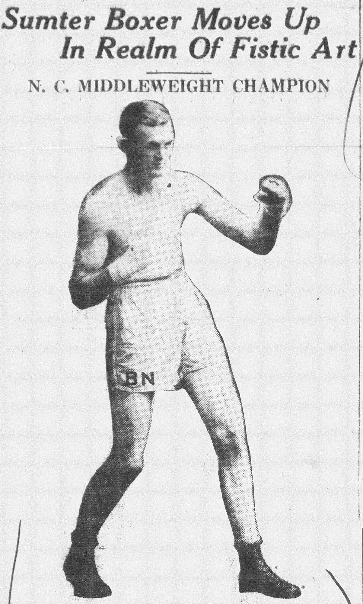 Buster Newberry is seen in an article from March 1929.