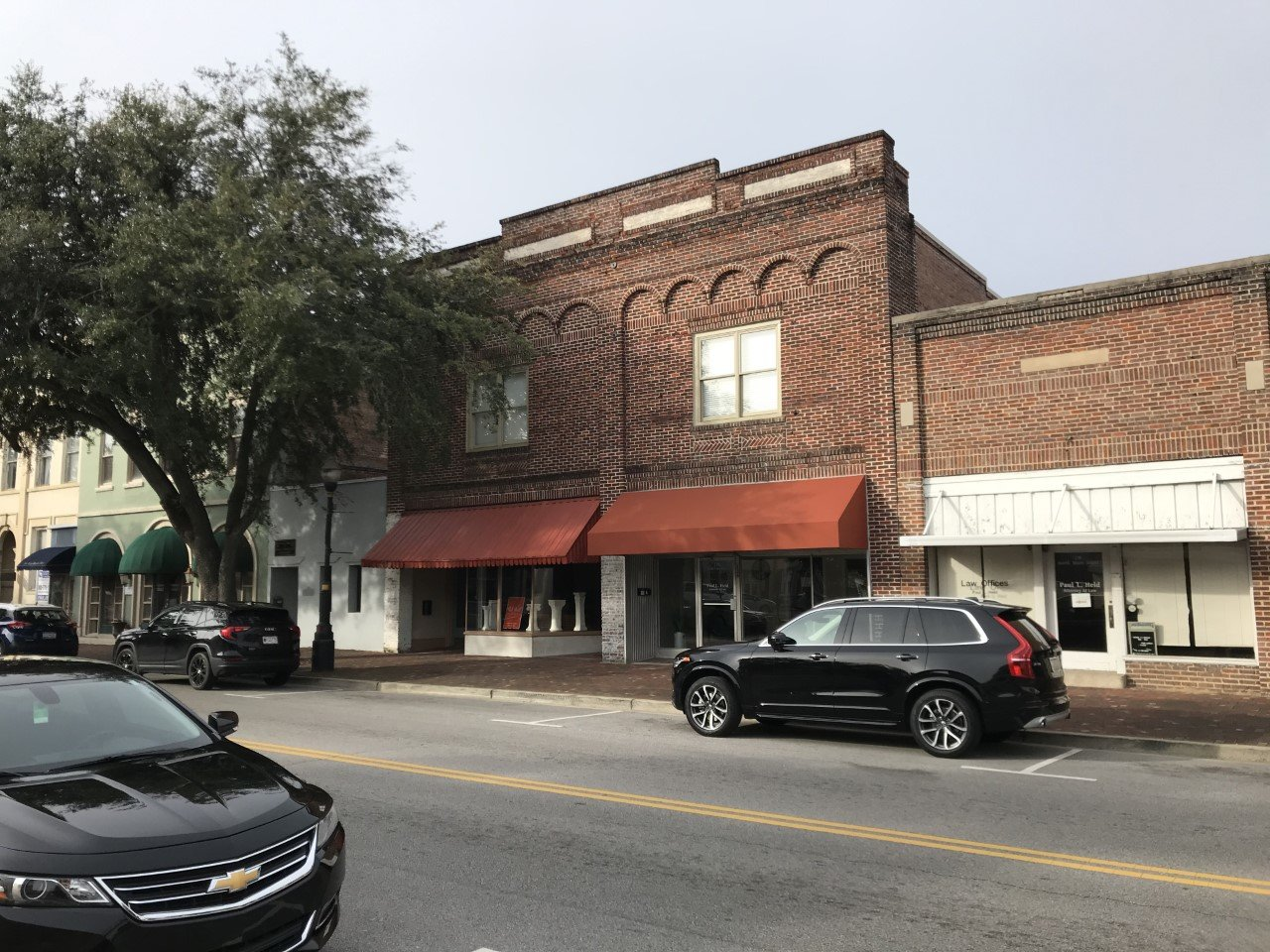 The front of the Sumter Printing Co. building is seen after renovations.