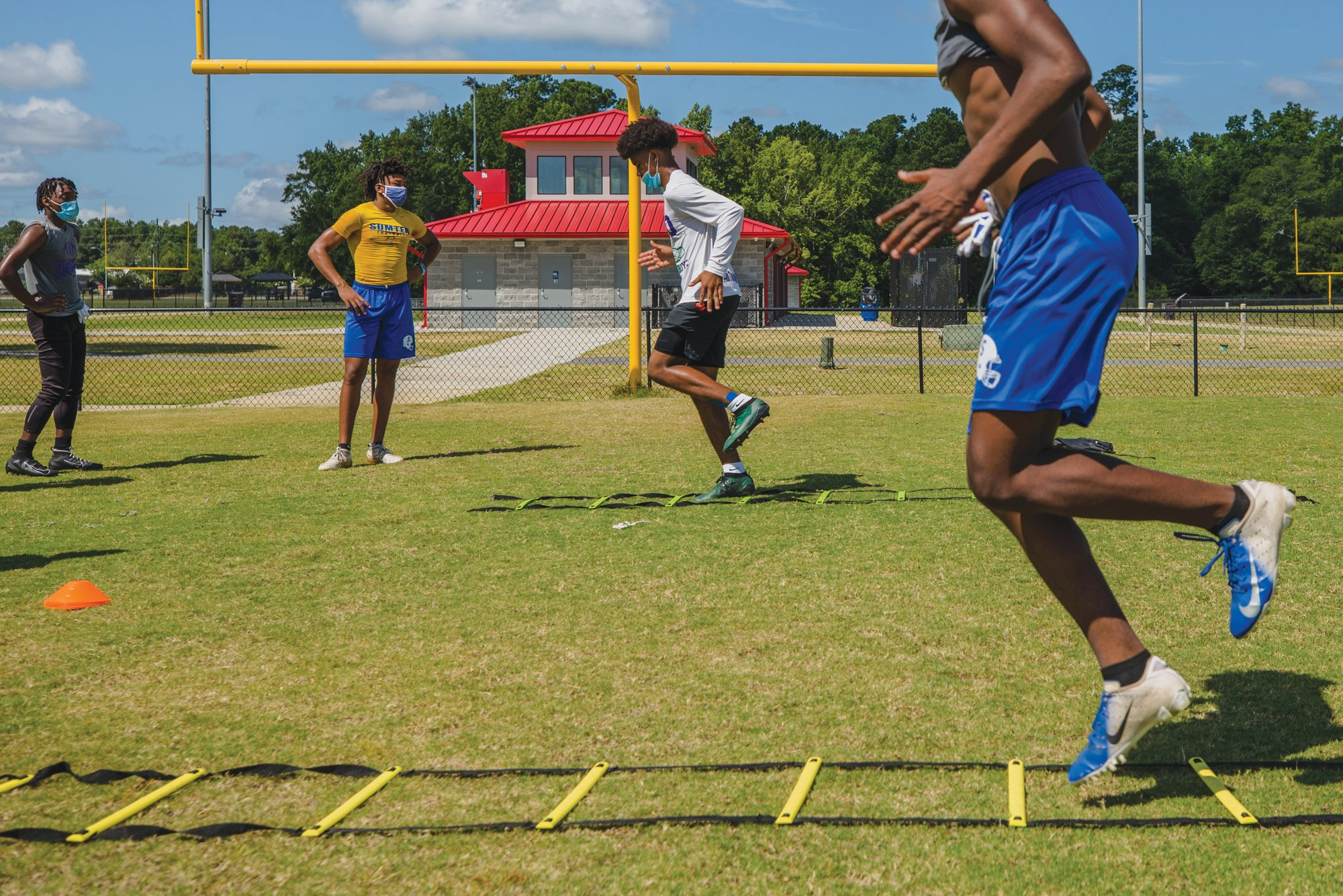 Athletes from Sumter School District are working out together as they wait for permission to have organized team workouts. The South Carolina High School League approved start date for football practices, which was originally Aug. 17, has been pushed back to Sept. 8.