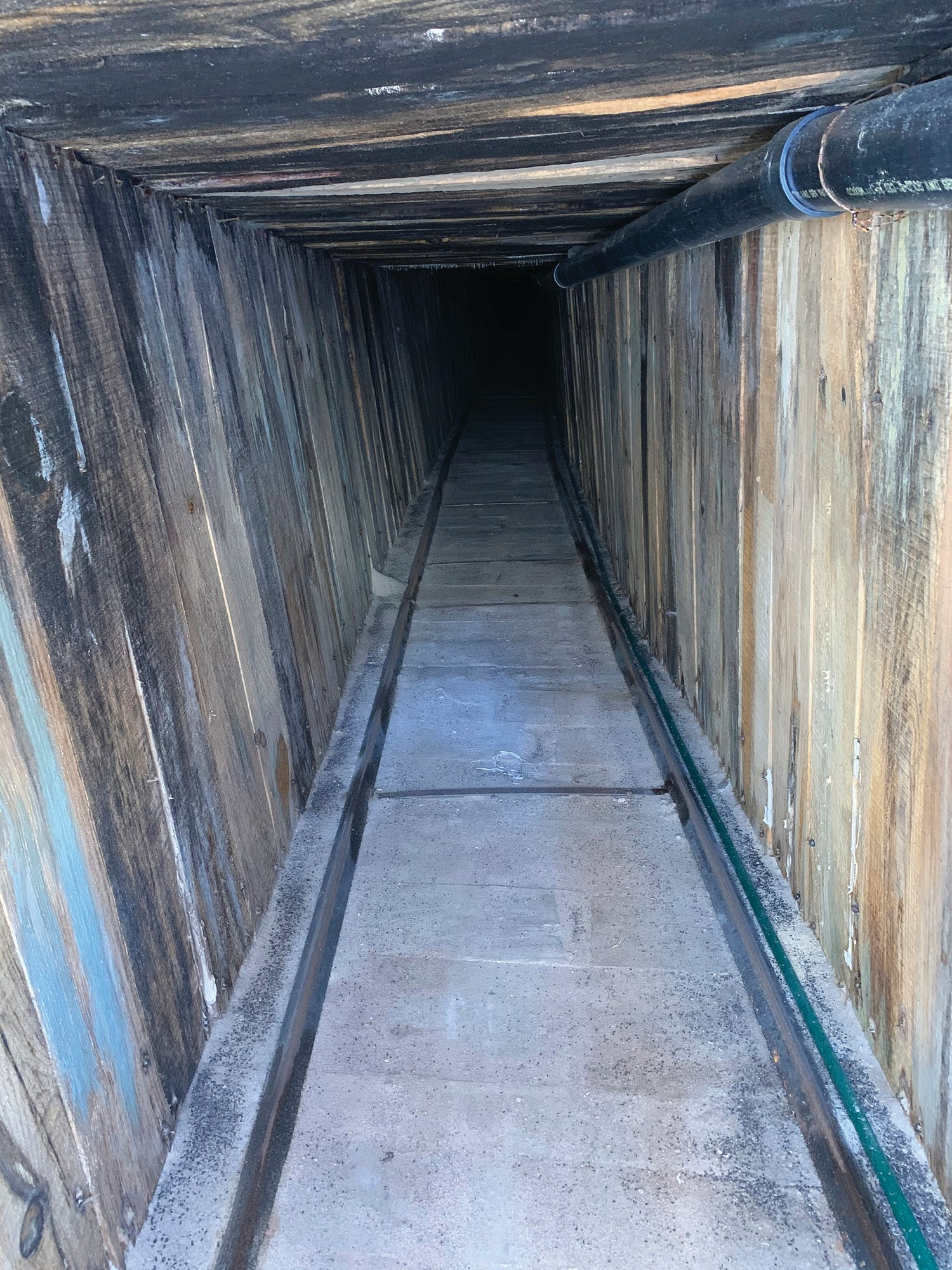 PHOTOS COURTESY OF ICE VIA APThe photo provided by U.S. Immigration and Customs Enforcement shows sections of an incomplete tunnel intended for smuggling, found stretching from Arizona to Mexico.