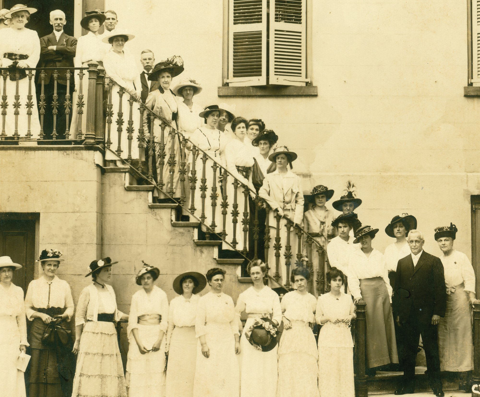 Susan Pringle Frost and Fellow Suffragists in Charleston, circa 1915.