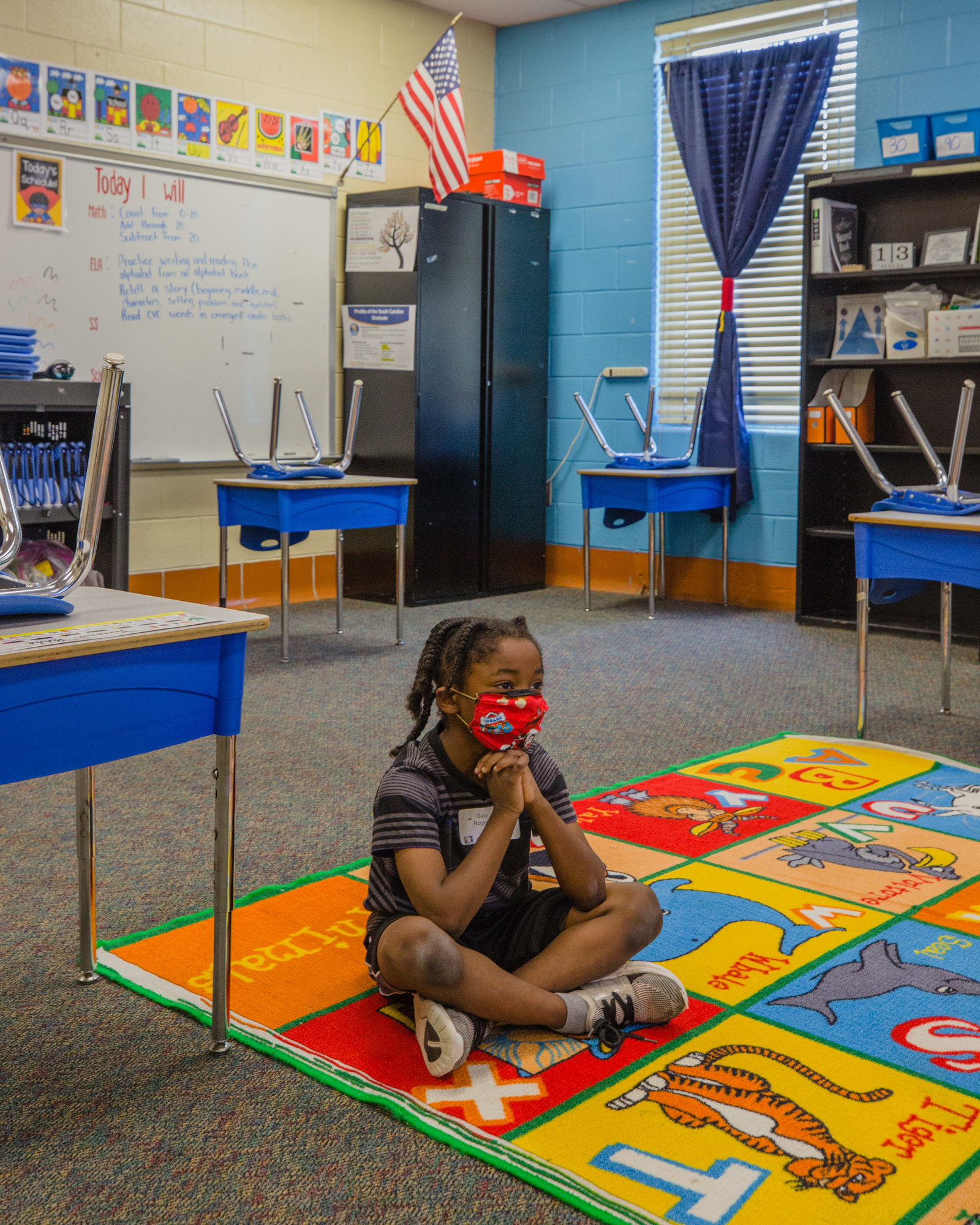 A student in Rashyra Smiling's first-grade class at Willow Drive participates in LEAP Days on Thursday.