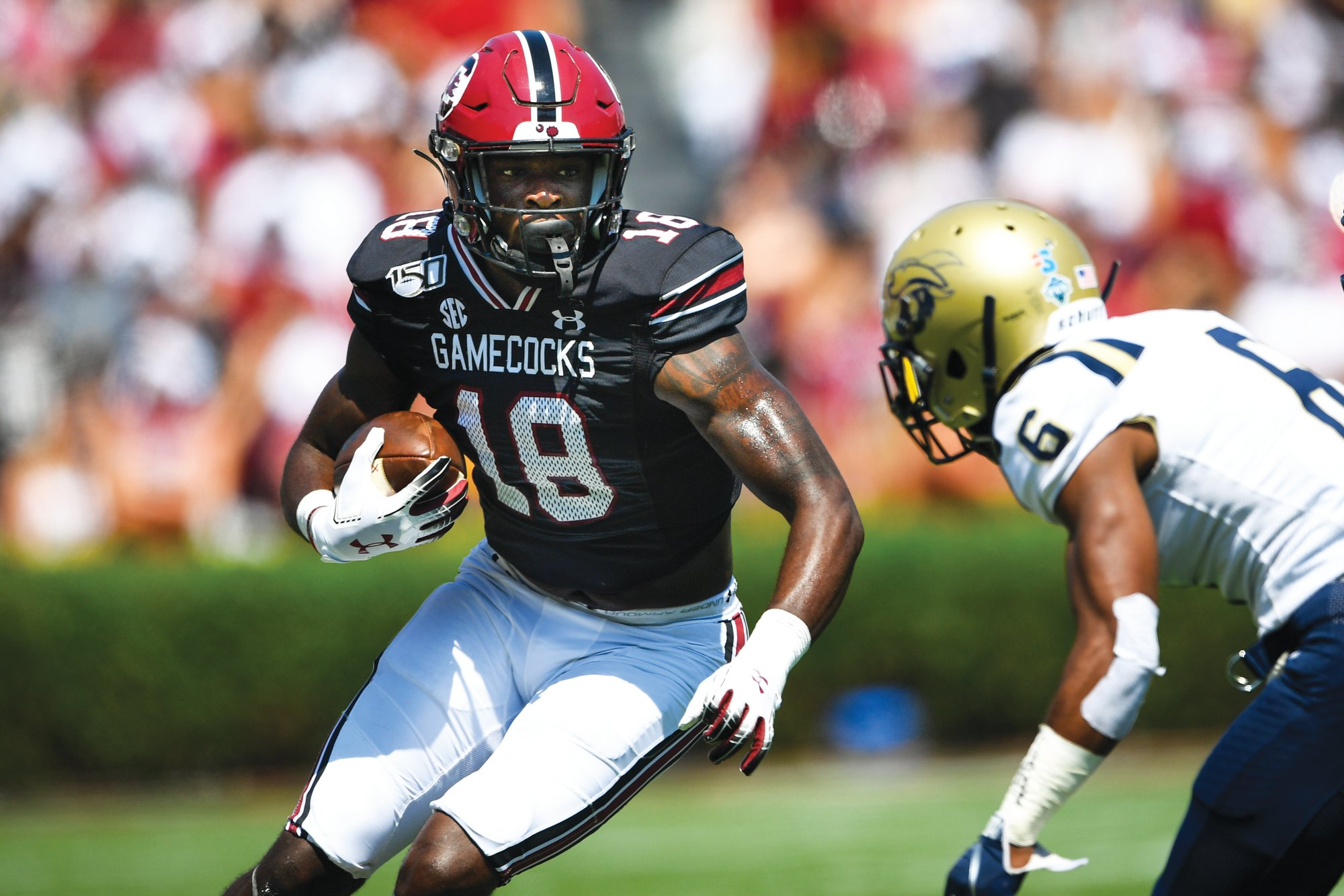 South Carolina wide receiver Or'Tre Smith (18) opted out of the 2020 season on Friday due to concerns about the coronavirus.