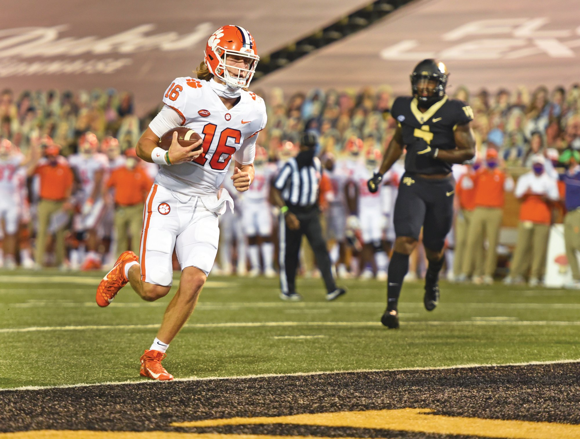 Clemson quarterback Trevor Lawrence and the top-ranked Tigers will host The Citadel on Saturday.