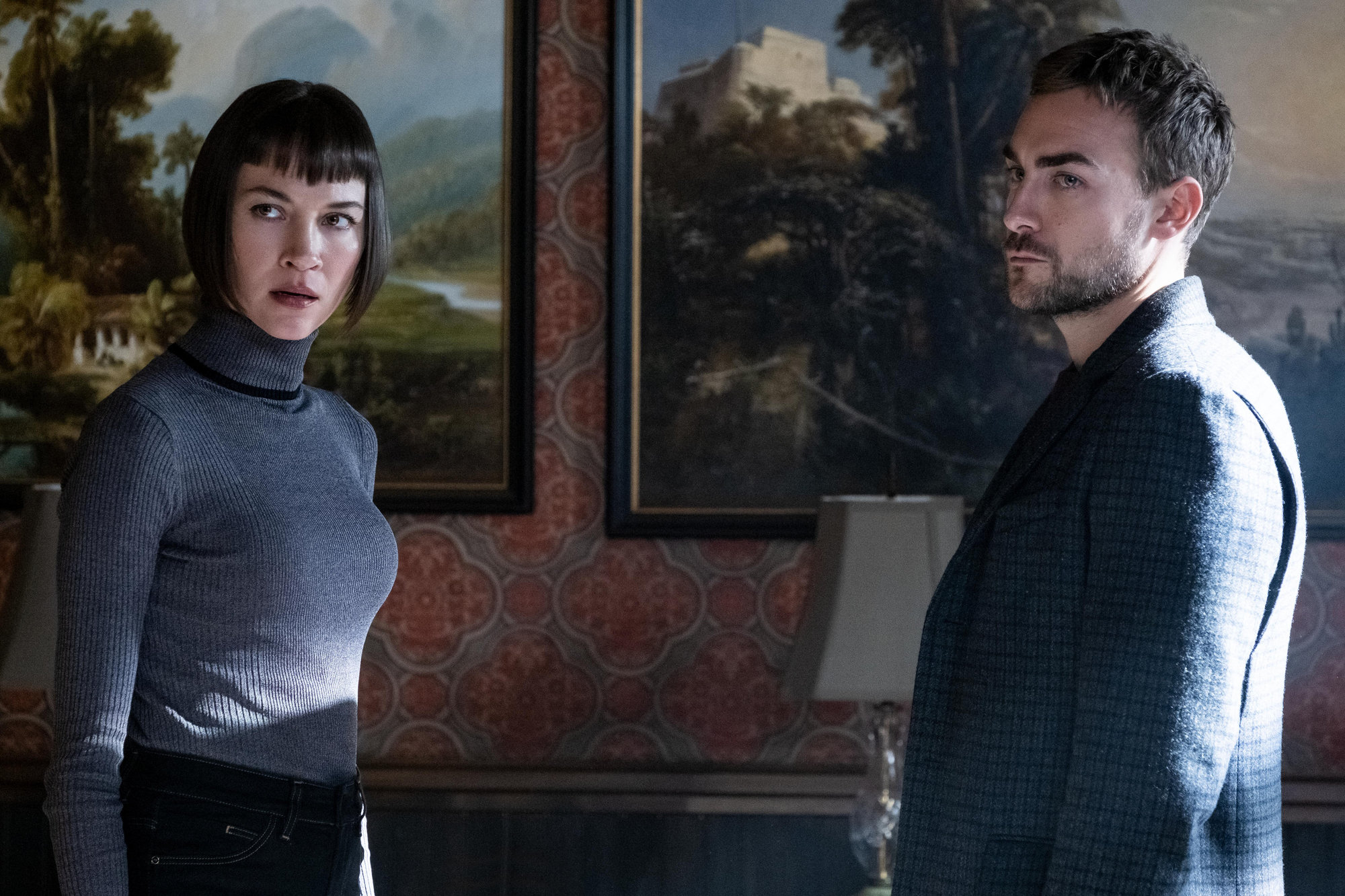 "Sydney Lemmon, left, stars as Ana and Tom Austen as Daimon in ""Helstrom,"" now streaming on Hulu. The children of a mysterious and powerful serial killer, Ana and Daimon track down and attempt to rid the world of the worst of humanity."