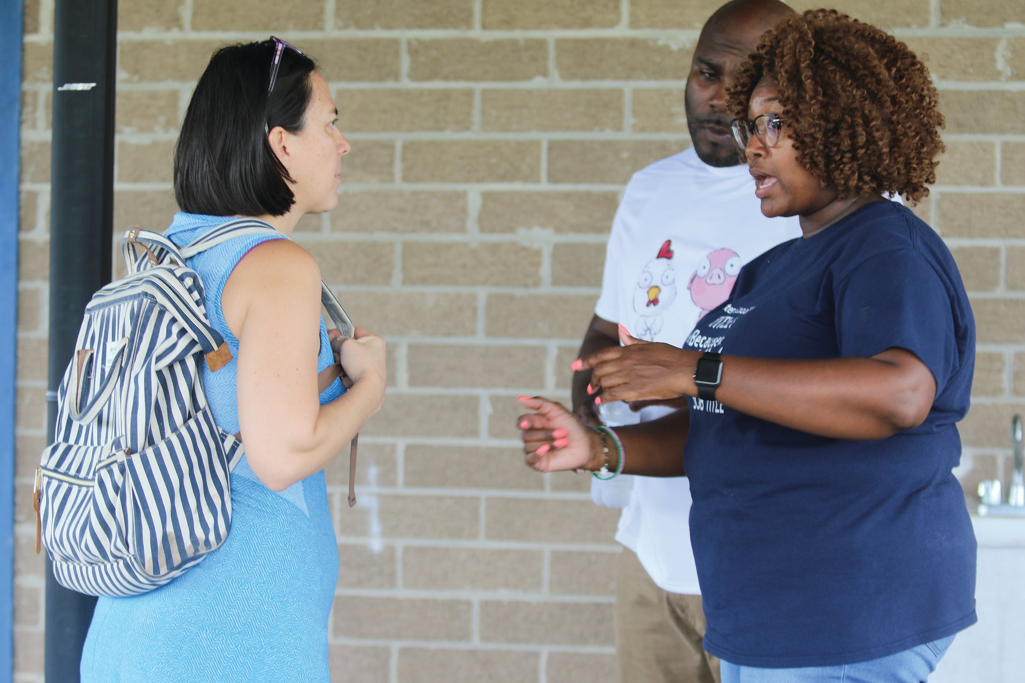 Arthena Woods, right, is seen in this 2019 photo at Sumter School District's inaugural Title I Family Engagement Festival at Sumter High School.
