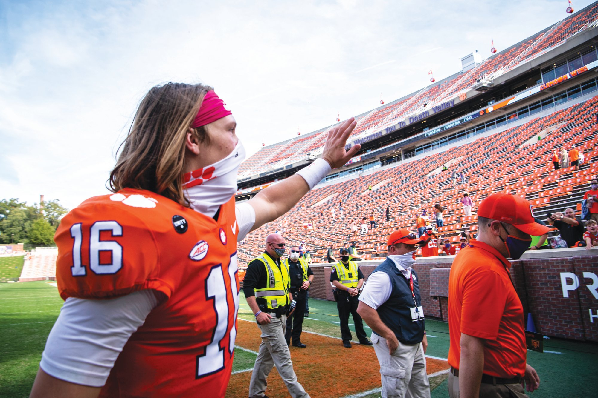 Clemson quarterback Trevor Lawrence (16) is leaving the door open to potentially play another year with the Tigers rather than going into the 2021 NFL Draft.