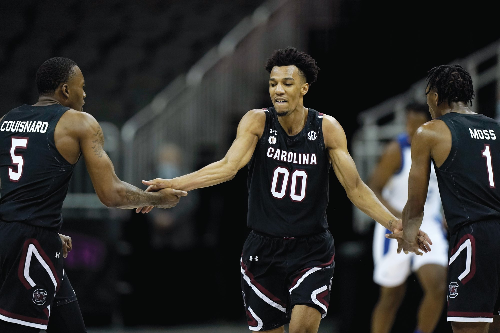 South Carolina's AJ Lawson (00) led the Gamecocks with 30 points in a 78-54 win over Texas A&M on Wednesday.