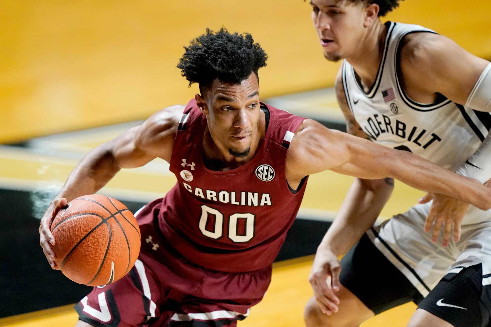 South Carolina guard AJ Lawson scored 22 points in the Gamecocks' 81-74 loss to Ole Miss on Saturday.