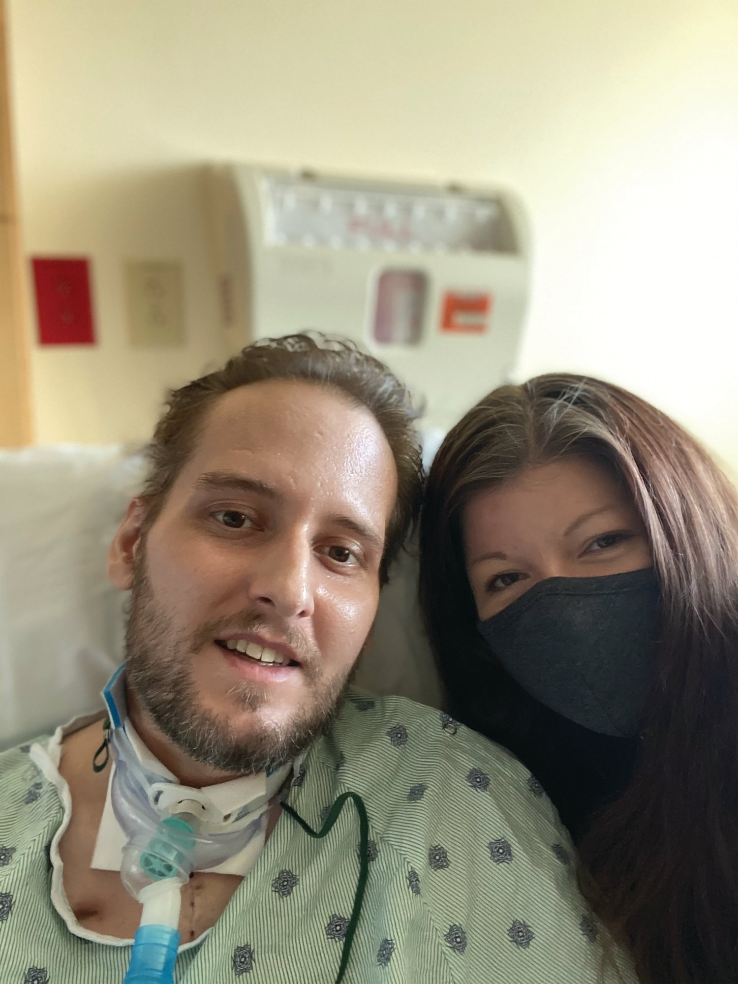 Ryan and Melissa Nacovitch both contracted COVID-19 in December, and Ryan is thought by his doctors to be the first patient in the Carolinas to receive a lung transplant because of the damage to his lungs from the virus.