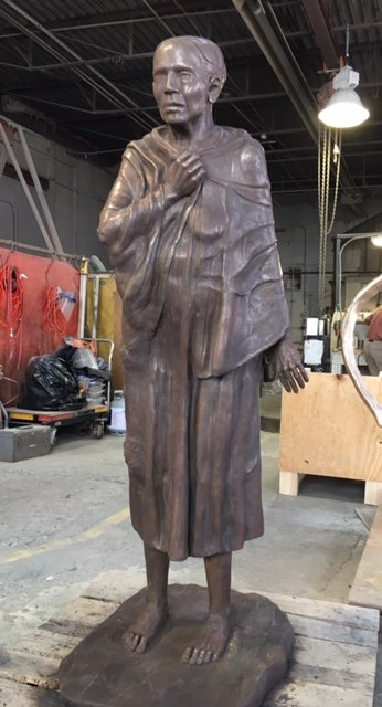 Bronze sculpture by Trina Greene for the Poorhouse Project, to be installed at the Ulster County Fairgrounds in May 2019.