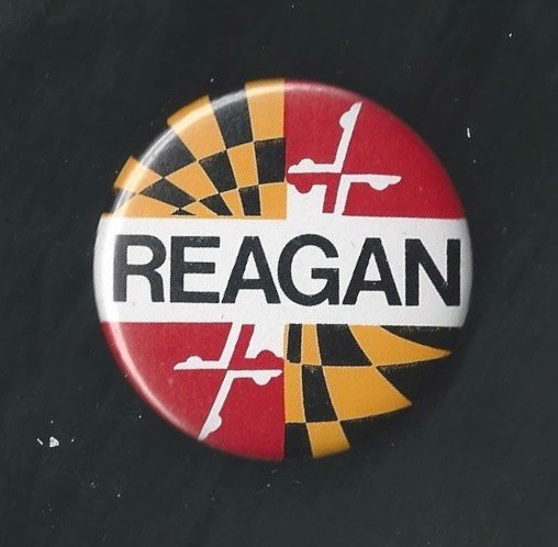 Reagan Maryland State Flag Campaign Button