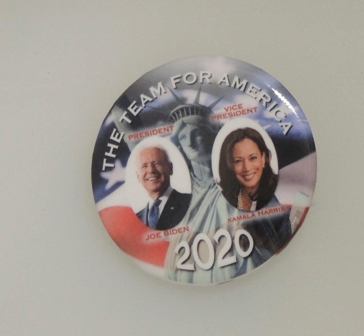Joe Biden Kamala Harris Political Button Large Capitol Coin Stamp Political Memorabilia And Precious Metals