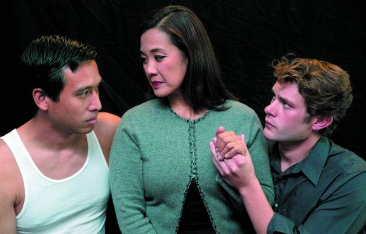 Dale Li, Arlene Rapal and Ben Cowhick are in the cast of �Snow Falling on Cedars� at the Vintage Theatre.