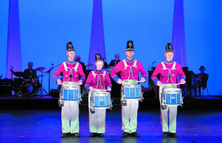 Drummers appear in �Home for the Holidays� at Lone Tree Arts Center. Courtesy photo