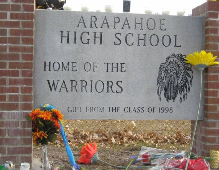 Makeshift memorials began to pop up immediately in the aftermath of the Dec. 13 shooting at Arapahoe High School. Two weeks later, flowers, notes, signs and candles still lined the perimeter of the school.