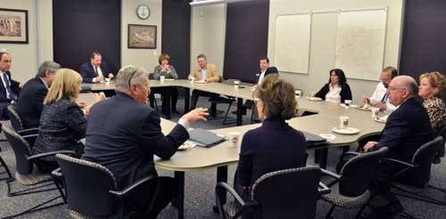 The Parker Water and Sanitation District Board of Directors had a casual dinner meeting last month with state representatives to discuss water-related regional projects.