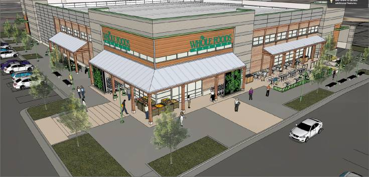 Rendering of the future Whole Foods in the Bradburn subdivision in Westminster.