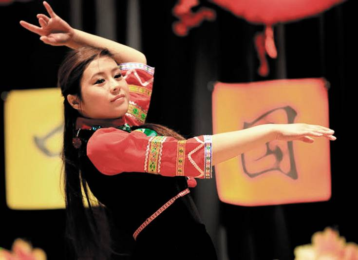 Patricia Liu performs at last year's Chinese New Year event at the Southridge Recreation Center.