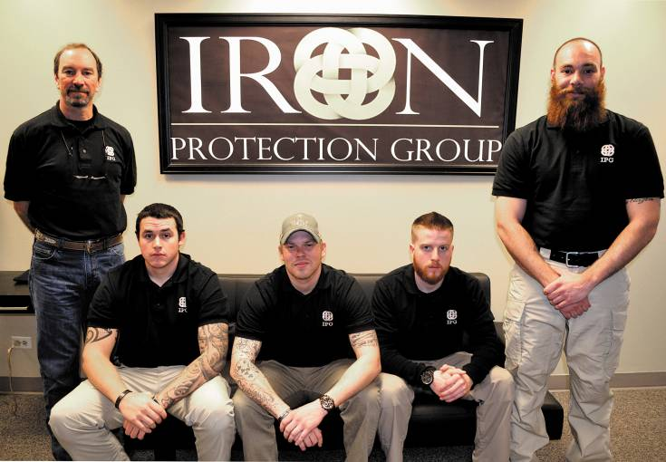 Colorado professional security services organization, Iron Protection Group, utilizes advanced skills and tactics to keep individuals and assets safe across the globe.(Left to right, CEO, Gene Palumbo; director of business development, James Swensen; chief operating officer, Hunter Garth; director of training, Micah Faustin; co-founder and head of operations, Cory Aguillard)