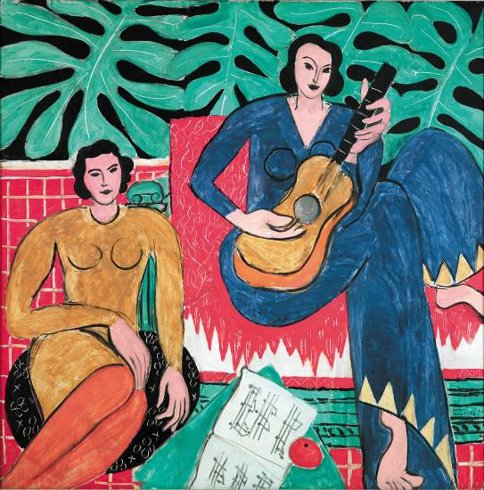 �La Musique� 1939  by Henri Matisse (French 1869-1954) is a 45-inch by 45-inch oil on canvas included in the Modern Masters exhibit at the Denver Art Museum through June 8.