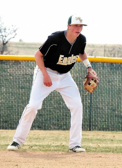Mountain Vista second baseman Marc Mumper had two dandy defensive plays to snare line drives and started a five-run fourth inning with a drag bunt in the Golden Eagles' 8-2 non-league win over Dakota Ridge on April 2.